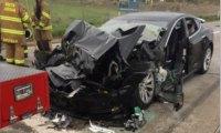 Tesla на автопилоте и пожарная машина - опять авария